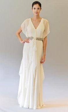 Carolina Herrera Helena wedding dress. simple and ethereal.