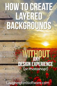 Learn how to create layered graphics for background designs. Easily make your own professional-looking graphics for any business or creative project. Graphic Design Software, Graphic Design Tips, Web Design, Design Templates, Design Ideas, Do It Yourself Design, Branding Design, Logo Design, Digital Marketing Strategy