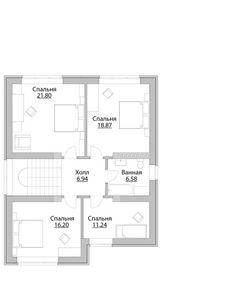 Проект дома C-214M - Проекты домов и коттеджей в Москве House Construction Plan, House Plans, Floor Plans, Exterior, House Design, How To Plan, House Floor Plans, Outdoor Rooms, Architecture Design