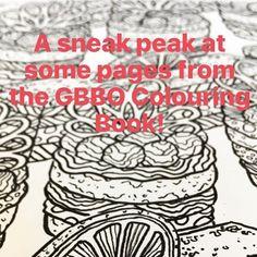 Sneak peaks #GBBO #gbbocolouring