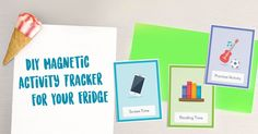 Free DIY Magnetic Activity Tracker for Your Fridge! Reading Time, Free Stuff, Homeschooling, Free Printables, Activities, Education, Diy, Bricolage, Free Printable