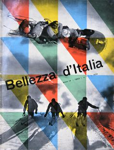 Franco Grignani, cover for Bellezze d'italia, 1950