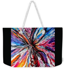 "The Feather Headress Weekender Tote Bag (24"" x 16"") by Expressionistartstudio Priscilla-Batzell.  The tote bag is machine washable, available in three different sizes, and includes a black strap for easy carrying on your shoulder.  All totes are available for worldwide shipping and include a money-back guarantee."