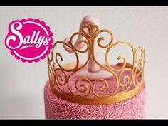 Prinzessin-Krone aus Blütenpaste Anleitung / Gumpaste Princess Crown / How to 27.02.15 - YouTube