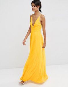 e7985c67d795 ASOS Deep Plunge Cami Maxi Dress at asos.com