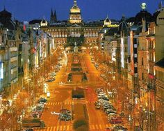 Wenceslas Square- Prague.   One of our all time favorite cities!