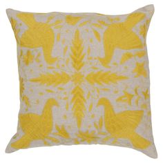 Beth Lacefield Palermo Pillow in Quince Yellow