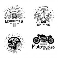 Click image to get the file. Motorcycle Logo, Motorcycle Clubs, Motorcycle Design, Free Vector Illustration, City Illustration, Retro Background, Background Patterns, How To Age Paper, Surfer