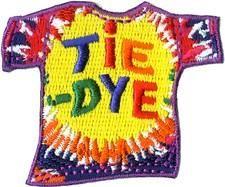 Tie Dye TShirt Fun Patch