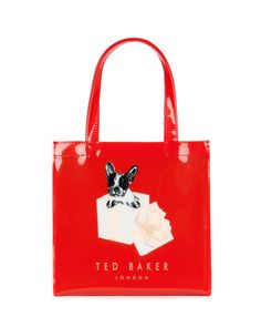 Small dog graphic shopper - Bright Red | Bags | Ted Baker UK