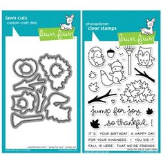 RESERVE Lawn Fawn SET SULF16SETJFJ JUMP FOR JOY Clear Stamps and Dies