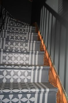 12 Stencil Ideas For Your Stairs   Paint Stair Risers With DIY Design | Painted  Stair Risers And Paint Stairs