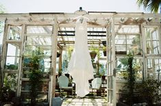 Greenhouse wedding YES I'VE BEEN WANTING A GREENHOUSE WEDDING SINCE I WAS LITTLE ! never knew someone had done those already ! LOVE this