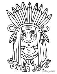 Resultado de imagen de dibujos tipis indios para colorear