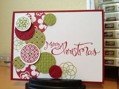 How to use circle circus stamp set for Christmas! (this is the card that made me fall in love with this stamp set! beautiful!!)
