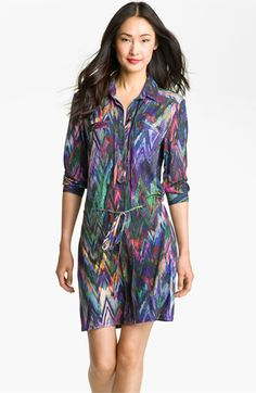 Suzi Chin for Maggy Boutique Print Jersey Shirtdress available at #Nordstrom  I think this is a necessity!