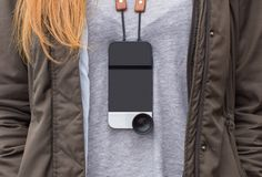 Turn Your iPhone 6 into a Rangefinder Camera with this Strap and Lens - http://www.psfk.com/2015/02/moment-lens-iphone-6-camera-strap.html