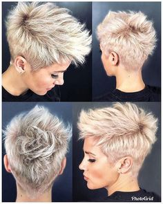 26 Easy Short Pixie Cuts for Chic Ladies When it comes to choosing the perfect s. - My list of women's hairstyles Short Pixie Haircuts, Short Hairstyles For Women, Short Hair Cuts, Cool Hairstyles, Short Mohawk, Pixie Mohawk, Short Undercut, Haircut Short, Punk Pixie Haircut