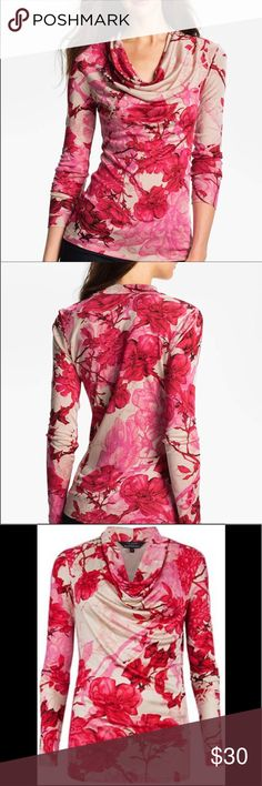 """Ted Baker Floral Etchings Print Top Medium Beautiful and Classic Ted Baker 'Floral Etchings' Print top in a size 2- or medium. The shirt is a great addition to your wardrobe. Own a piece of Wearable art 🌹 and make an offer today ❤️ Measurements: (layed flat) Shoulder to Hem- 24 1/2, Underarm to Underarm- 16 1/2, Sleeve Length-22 1/3"""" Ted Baker London Tops"""