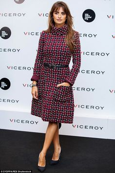 Watch it! Penelope Cruz looked sensational as she presented a new cinematic project at Viceroy Headquarters in Madrid on Thursday afternoon