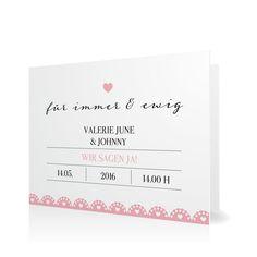 Hochzeitseinladung Rüschen zum Fest in Sorbet - Klappkarte flach #Hochzeit #Hochzeitskarten #Einladung #Foto #kreativ #modern https://www.goldbek.de/hochzeit/hochzeitskarten/einladung/hochzeitseinladung-rueschen-zum-fest?color=sorbet&design=e8497&utm_campaign=autoproducts