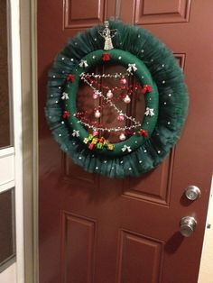 Christmas Tulle Wreath by BookeysCreations on Etsy