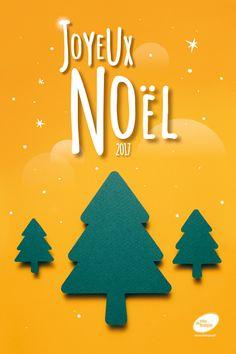 Noël en famille ! Pour la campagne de Noël, j'ai décidé de travailler dans une ambiance « papier découpé ». Avec un éclairage et une photo centrée sur l'objet, nous sommes tout de suite plongés dans une ambiance douce, calme et enfantine.  En fonction des thèmes, j'ai créé des formes en plein ou en vide. Ici une forêt de sapins.