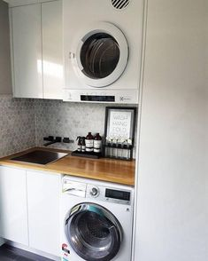 Great Laundry Room Layout Ideas Match For Any Home Design Small Laundry Room Organization, Laundry Design, European Laundry, Room Layout, Laundry In Bathroom, Small Room Design, Compact Laundry, Room Design