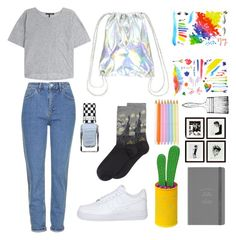"""art hoe aesthetic"" by grunge-outfits ❤ liked on Polyvore"