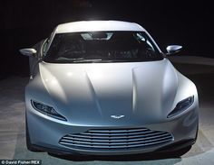 The sleek new Aston Martin DB10 was unveiled at the official photocall for the anticipated James Bond movie Spectre...x