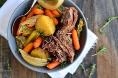 Pot Roast is a great easy meal for Sunday dinner.