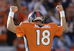 If this truly is the end for Peyton Manning, then I can only leave with the best tribute I've ever found online of Manning in a Broncos uniform. Peyton Manning returning to the field in 2015 is highly unlikely - via Mile High Report Denver Broncos Football, Go Broncos, Broncos Fans, Football Baby, Football Season, Nfl Season, Broncos Memes, Funny Football, Football Stuff