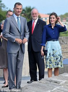 Floridian escape: The two are only the second Spanish royals to visit St. Augustine