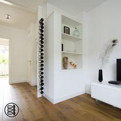 WIJNPAAL: uniek en stijlvol design wijnrek. Op maat gemaakt, dus past in ieder interieur. #wijnpaal #wijnrek #design #interior #interieur #winerack #wine rack