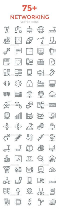 75+ Networking Vector Icons. Download here: https://graphicriver.net/item/75-networking-vector-icons/17086026?ref=ksioks