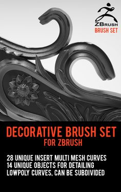 FREE: Decorative IMM Brush Set for ZBrush by Marvin Lorenz