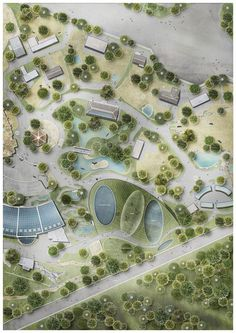 Image 7 of 7 from gallery of and GERNER GERNER PLUS Reveal Competition Design for Undulating Aquarium in Vienna Photograph by - architecture Villa Architecture, Landscape Architecture Design, Architecture Graphics, Landscape Plans, Urban Landscape, Masterplan Architecture, Landscaping Supplies, Backyard Landscaping, Planer Layout