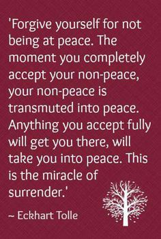 Peace comes in all forms:)