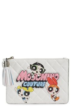 Moschino 'The Powerpuff Girls®' Quilted Leather Clutch | Nordstrom