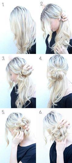 DIY beautiful hairstyle