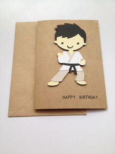 Martial Arts Birthday Card, Karate Birthday Card, BJJ Birthday Card, Happy Birthday Card, Male Birthday Card