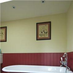 Bathroom Painted in Rectory Red & Farrow's Cream Farrow Ball, Interior And Exterior, Colours, Cream, Bathroom, Painting, Inspiration, Design, Home Decor