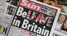 Media Mogul Murdoch Turns on Best Mate Cameron in Brexit Vote © AFP 2016/ Daniel Sorabji EUROPE 16:39 14.06.2016(updated 17:28 14.06.2016) Get short URL Topic: Brexit (62) 151631 With just over a week till the UK goes to the polls over its future in Europe, Britain's most read daily newspaper - The Sun - has officially backed a vote for Brexit.    Read more: http://sputniknews.com/europe/20160614/1041305429/uk-referendum-brexit-newspaper.html#ixzz4BdXS9pqF