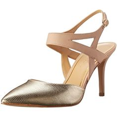 Enzo Angiolini Women's Cuteshoo Dress Pump ($33) ❤ liked on Polyvore featuring shoes, pumps, ankle tie shoes, pointed toe shoes, ankle wrap shoes, ankle wrap pumps and ankle strap pumps