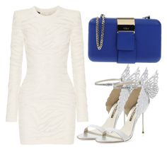 """""""Untitled #3022"""" by evalentina92 ❤ liked on Polyvore featuring mode, Balmain, Furla en Sophia Webster"""