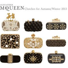 "McQueen Clutches for Autumn / Winter by alexandermcqueen on Polyv ""Alexander McQueen Clutches for Autumn / Winter by alexandermcqueen on Polyv . ""Alexander McQueen Clutches for Autumn / Winter by alexandermcqueen on Polyv . My Bags, Purses And Bags, Alexander Mcqueen Clutch, Luxury Handbags, Leather Clutch, Evening Bags, Fashion Bags, Gq Fashion, Designer"