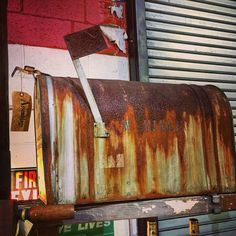 """Mail Box / Perfectly Rustic / 24"""" X 20"""" X 11"""" by assemblage333 on Etsy"""