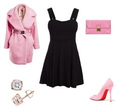 """a night at the club"" by jen-gardiner on Polyvore featuring WithChic, N°21, Christian Louboutin, Miu Miu and TruMiracle"