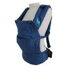 Blue Cotton pokadot baby carrier For more details www.mommybabydolls.com
