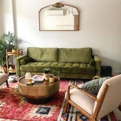 Drum Storage Coffee Table, Walnut/Antique Brass | west elm